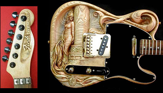 Cool Hand Carved Guitar