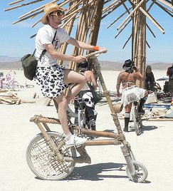 Bamboo Bike at Burningman