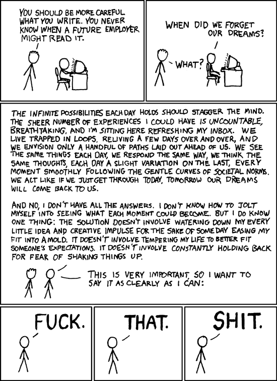 xkcd webcomic - Dreams