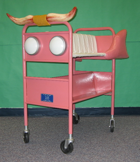 Pink Caddie Library Cart