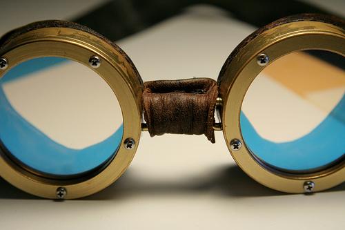 Handmade brass goggles