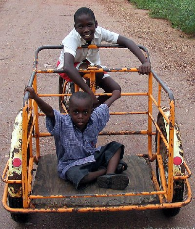 Kids on bike cart/carrier