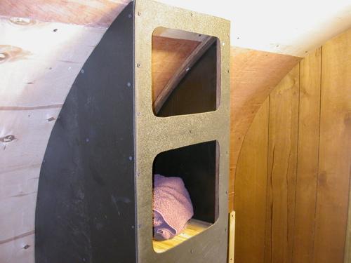 Top storage shelves