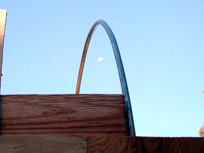 Moon through conduit rib
