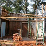 Framing the second floor.